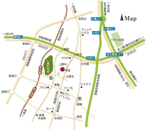 東堂地図 愛知県東海市荒尾町油田38番地
